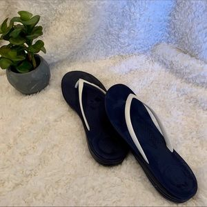 Fitflop Sandals, Navy/White, Women's Size 9